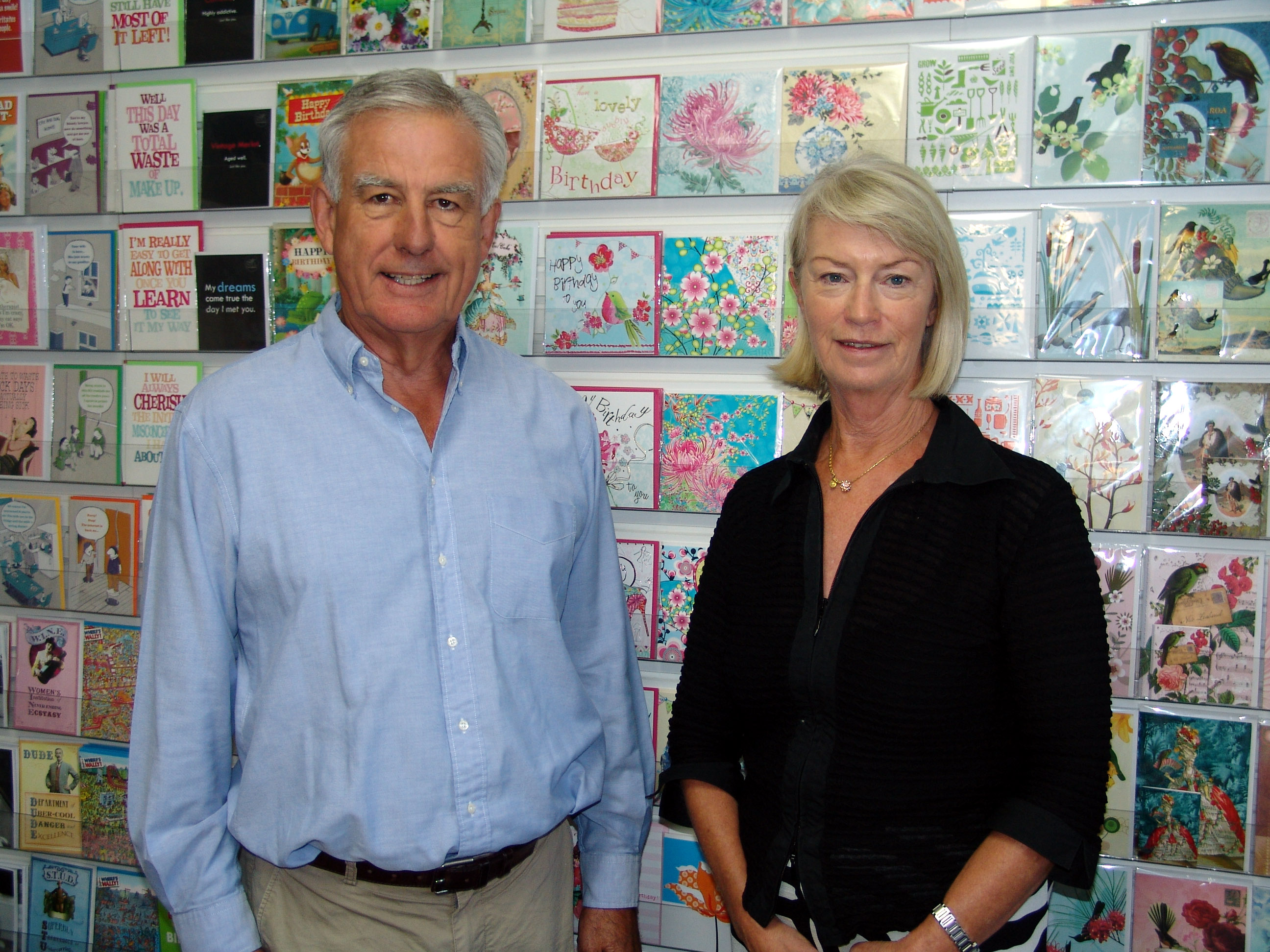 Above: Image Gallery's Deirdre Robinson and her husband David.