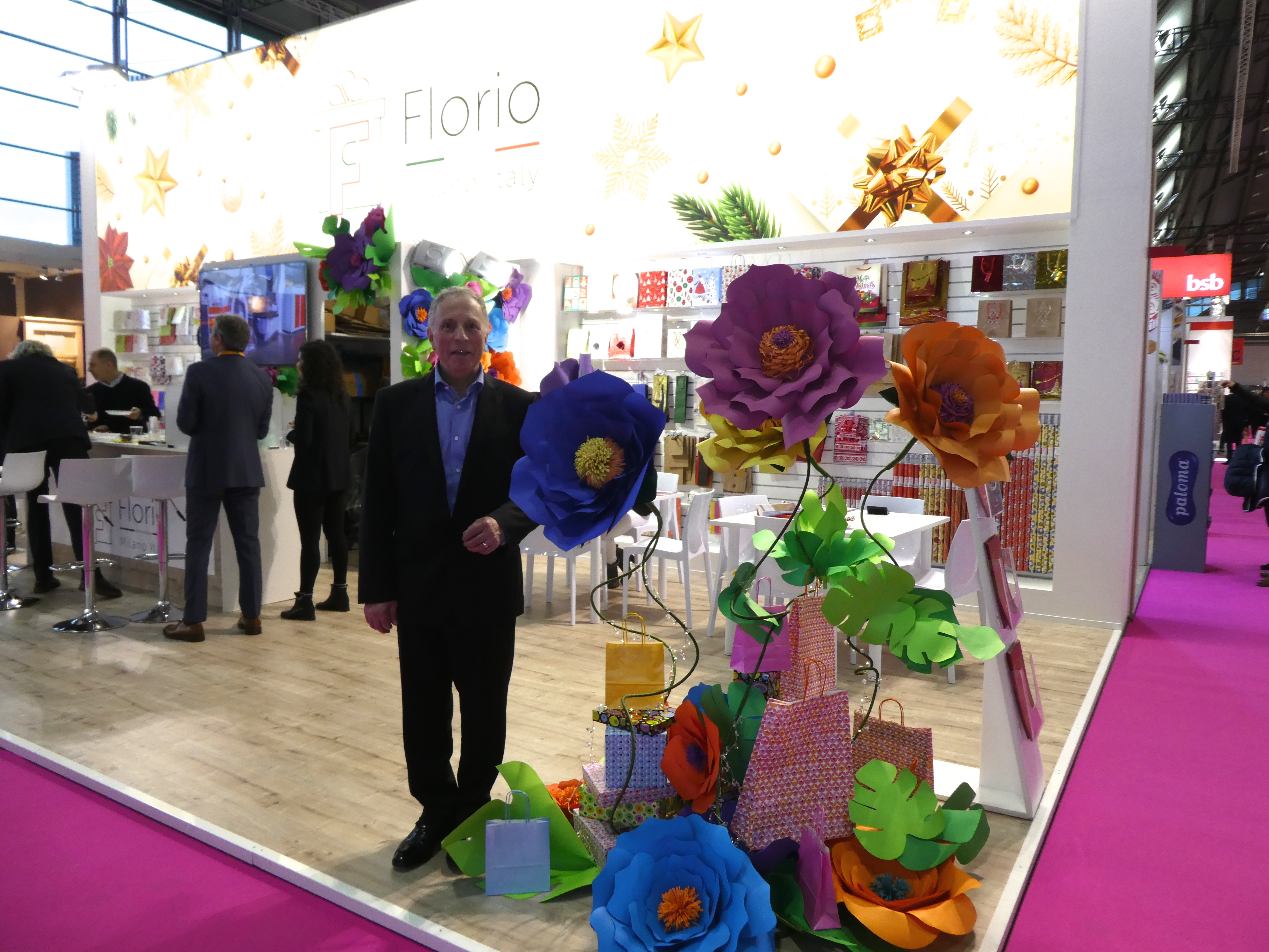 Above: UK industry stalwart Roger Freeman is having a 'blooming' good time working with Florio, a giftwrap manufacturer.