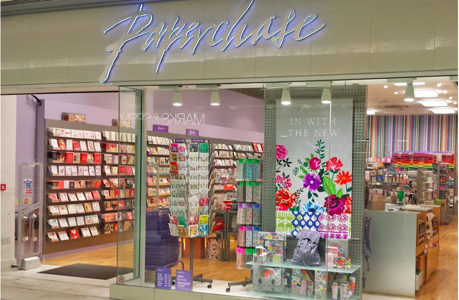 Above: A small number of Paperchase stores will close, while many others will see their rental costs reduce.