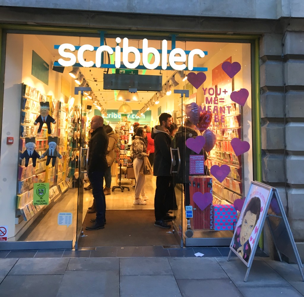 Above: Scribbler had a stonking Valentine's season this year.
