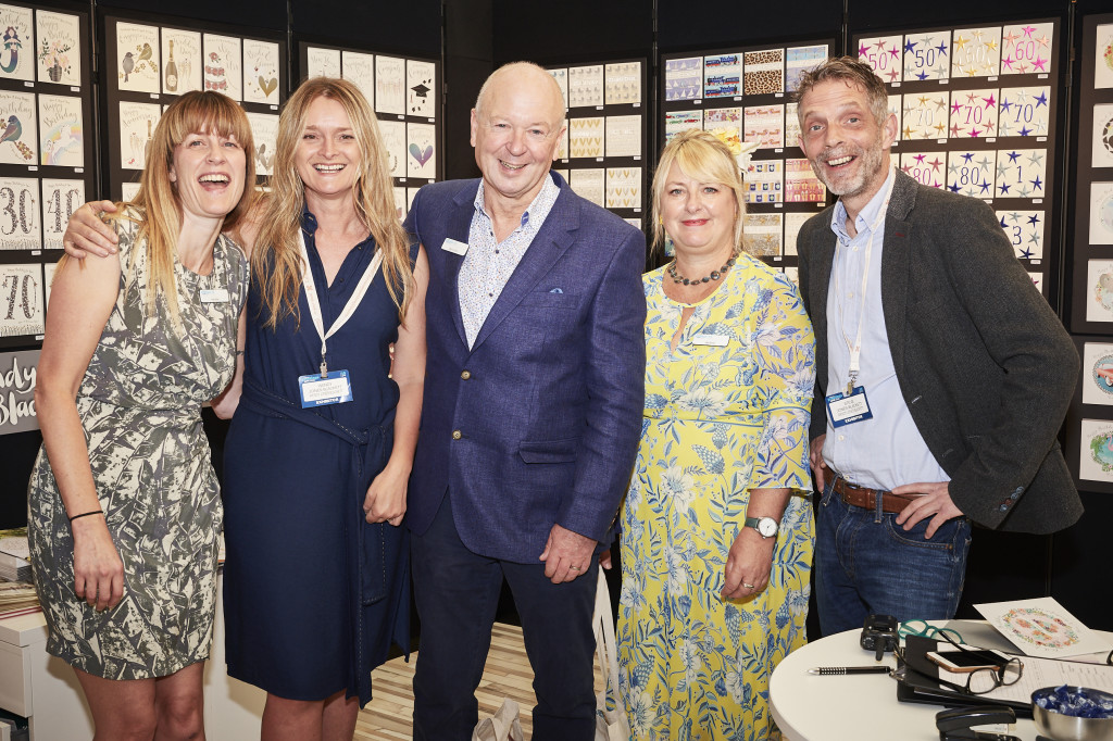 Above: PG Live's co show director Warren Lomax (centre) with (2ndleft) Wendy and Steve Jones-Blackett on their stand at last year's PG Live with PG colleagues Gale Astley (left) and Jakki Brown.