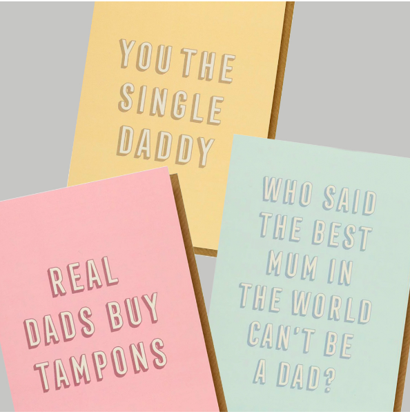 Above: Paperchase's Mother's Day cards include designs that are not just for mums.