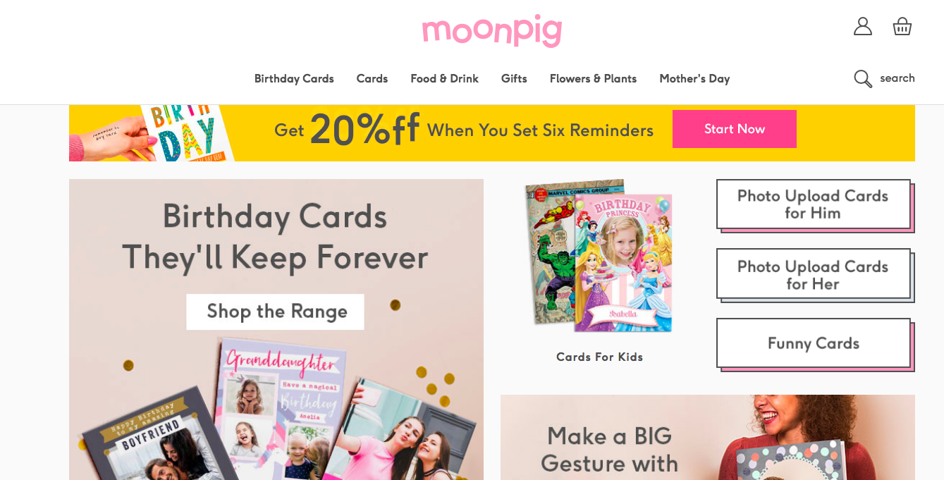 Above: Despite the fact that digital cards, of which Moonpig is the market leader, only account for 5% of the market, indies view online operators as a significant threat to their business.
