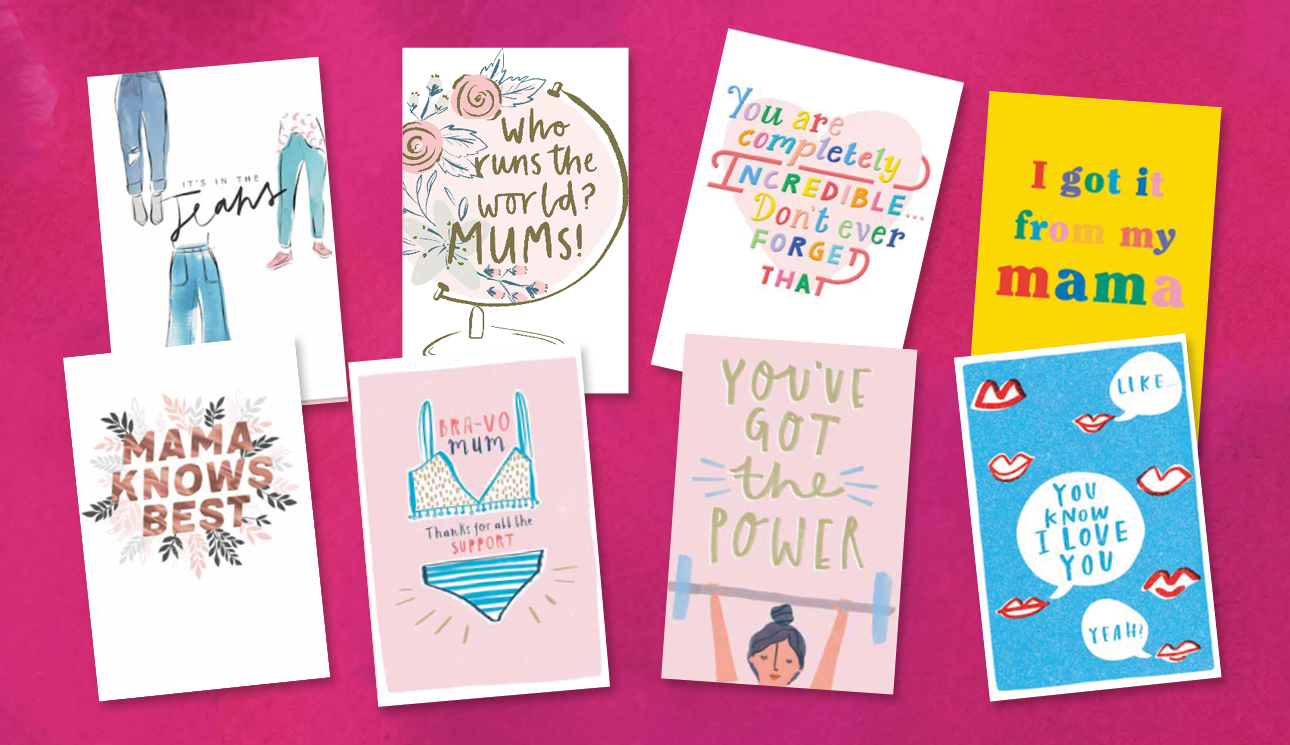 Above: Some of the special charity Mother's Day cards that Hallmark has devised for Tesco.