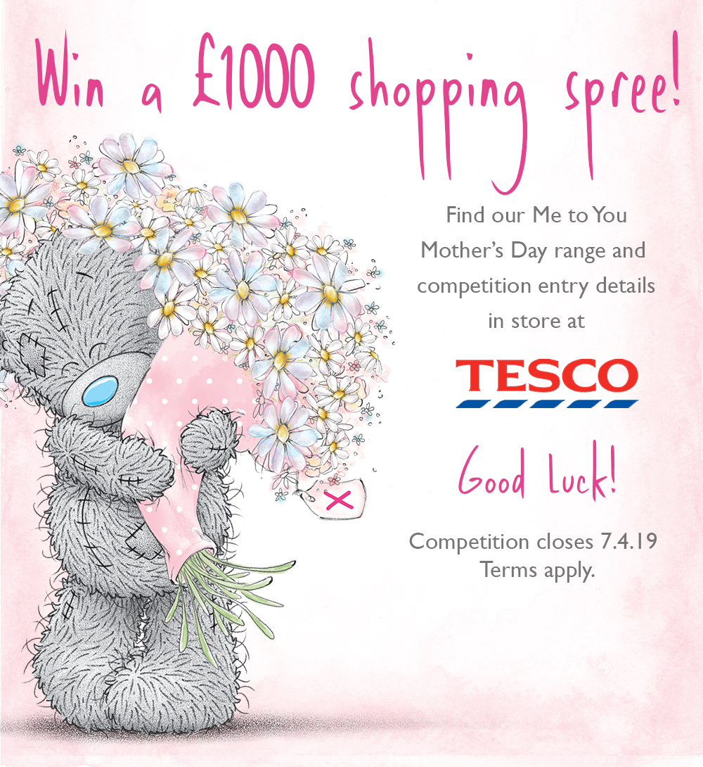 Above: A £1,000 spending spree at Tesco is up for grabs as a result of a Tesco/Carte Blanche competition fronted by the Me to You brand.