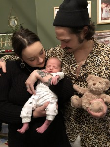 Above: Hannah Pontillo and her husband Phil with their daughter River.