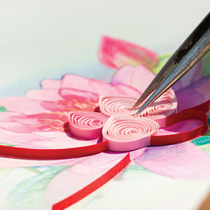 Above: A close up of the ancient art of quilling in action.