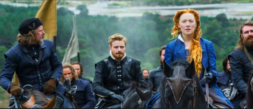 Above: The art of quilling features in the recent Mary Queen of Scots film.