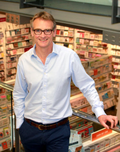 Above: Duncan Gibson, chief executive of Paperchase believes decisive action will safeguard the chain.