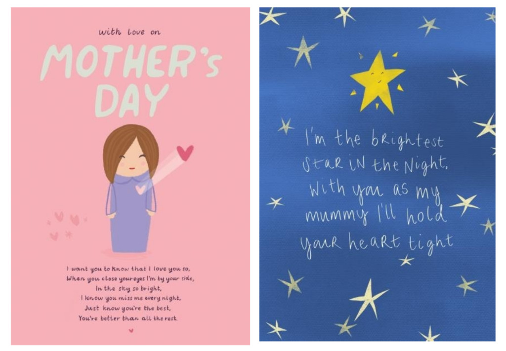 Above: Hannah Pontillo's words, based on her own experience feature on all of the cards in the new collection.