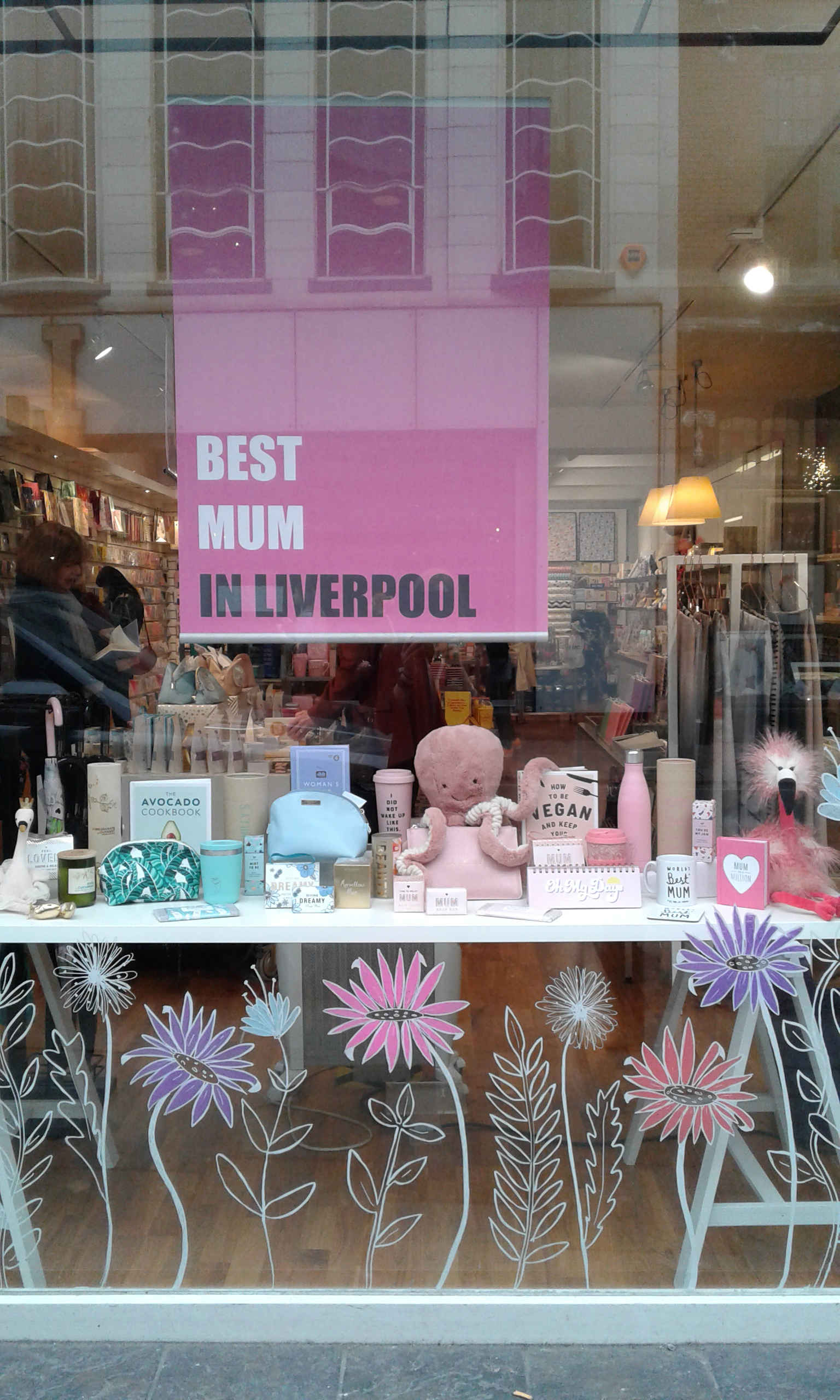 Above: The Mother's Day window display in one of Utility's Liverpool store.