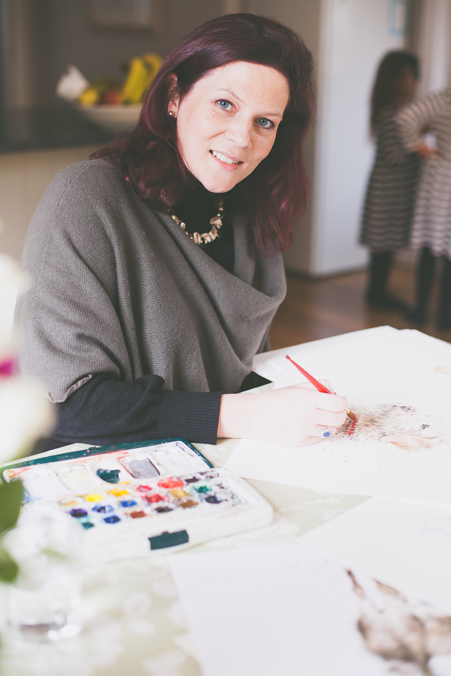 Above: Former stockbroker, Hannah Dale has drawn on her zoological degree and natural artistic talent for the basis of her brand's USP.