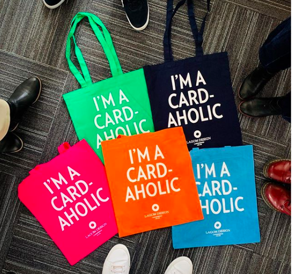 Above: The striking cloth bags that Lagom Design has produced for this year's PG Live.