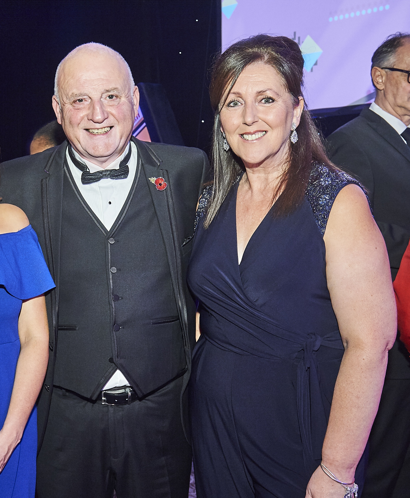 Above: Grass Roots International's Rob Brown and Lisa Ardren at last year's Henries awards event.