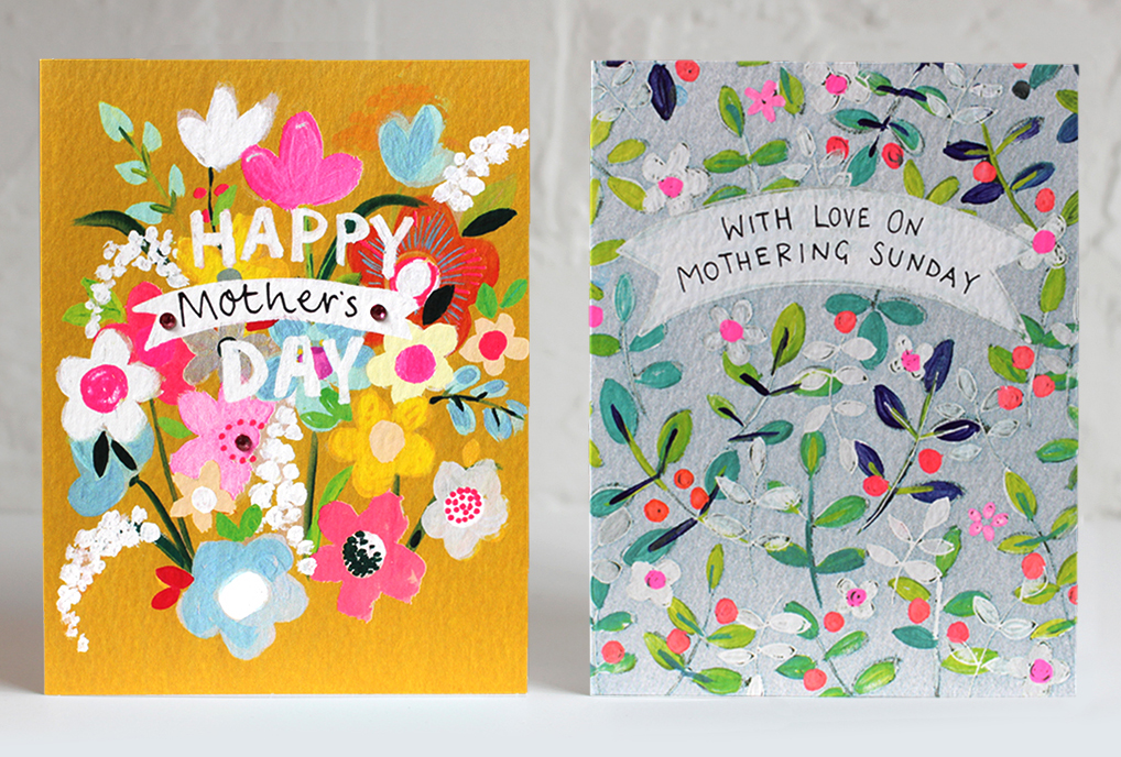 Above: Two of Paper Salad's Mother's Day cards.