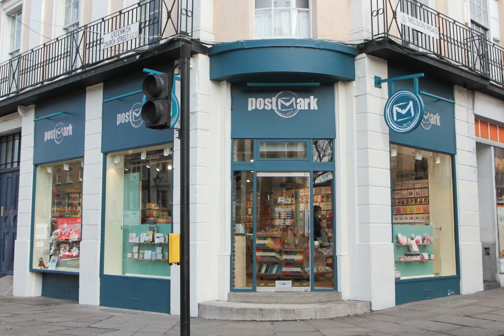 Above: Postmark's shop in Greenwich. The retailer is donating 100% of the proceeds to the charity for the sale of these cards.