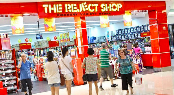 Above: The Reject Shop in Australia has aspirations to be a leading retailer of value cards in Oz.