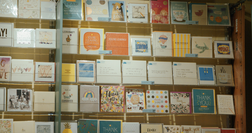 Above: The cards are on display in the empathy section of Postmark's physical stores as well as on its website.