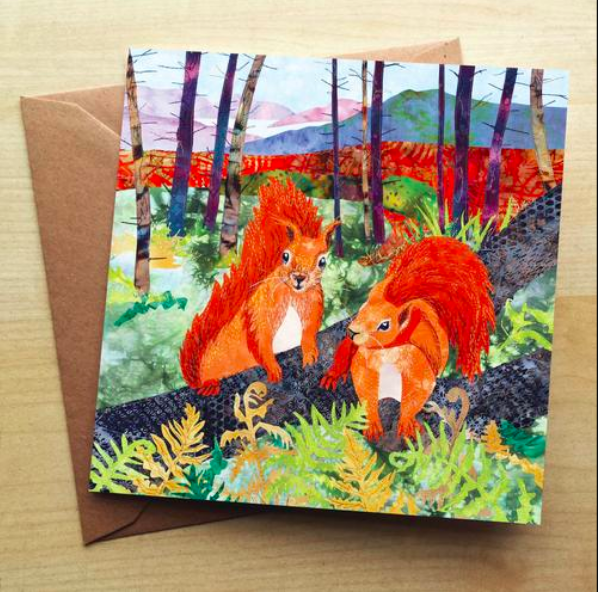 Above: Kate Findley is among the artists whose work Wraptious publishes on cards as well as other products.