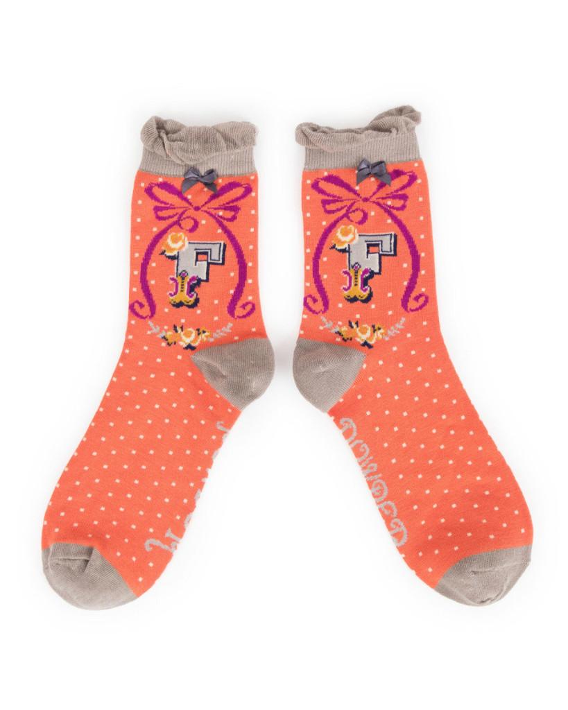 Above: Alphabet Ankle Socks from Powder.