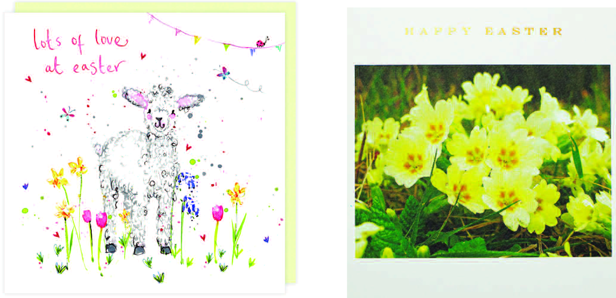 Above: Among the JL&P best sellers for Easter are these Louise Mulgrew (above left) and Susan O'Hanlon designs.