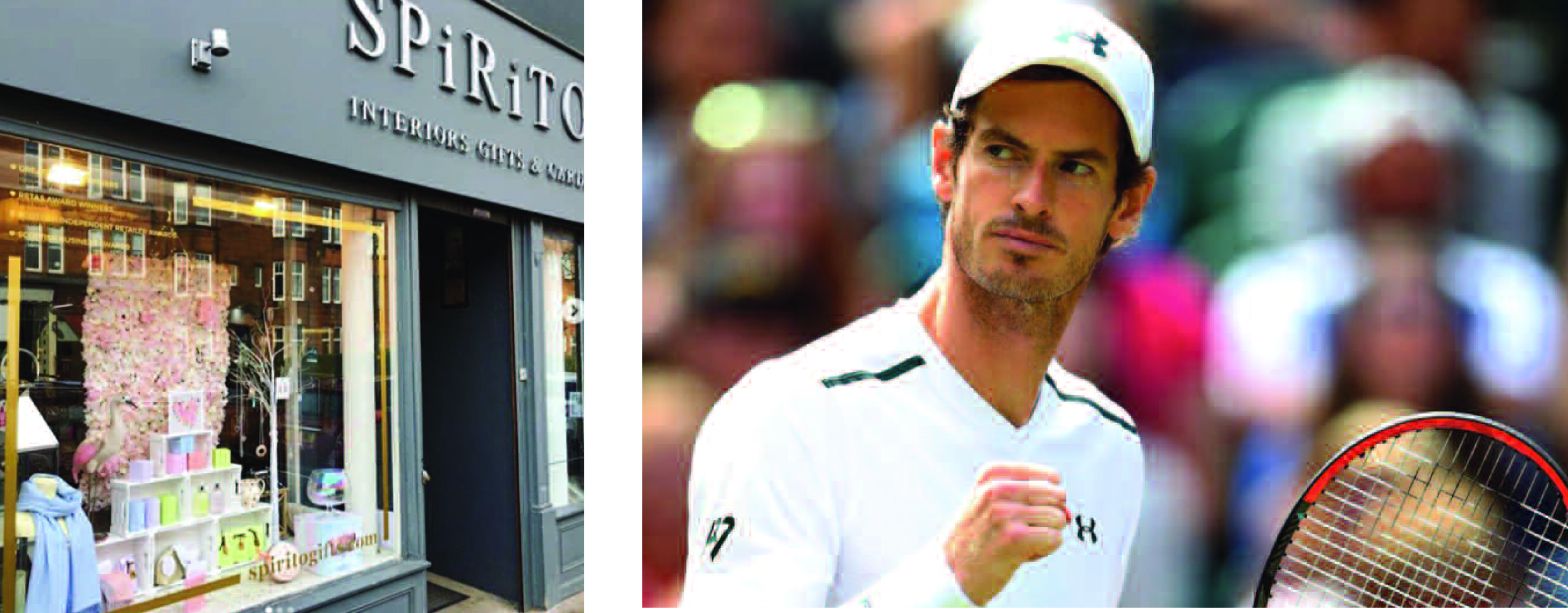 Above: Spirito' Denise Laird would love to welcome fellow Scot Andy Murray through the shop's doors.