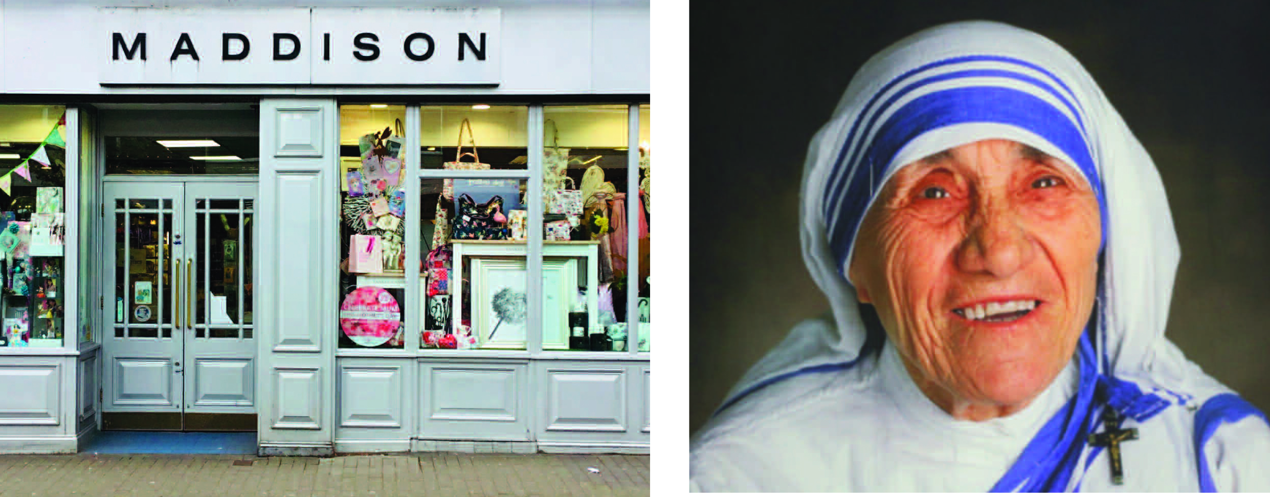 Above: Stephen McHale of Bentleys and Maddison would give Mother Theresa a warm welcome.
