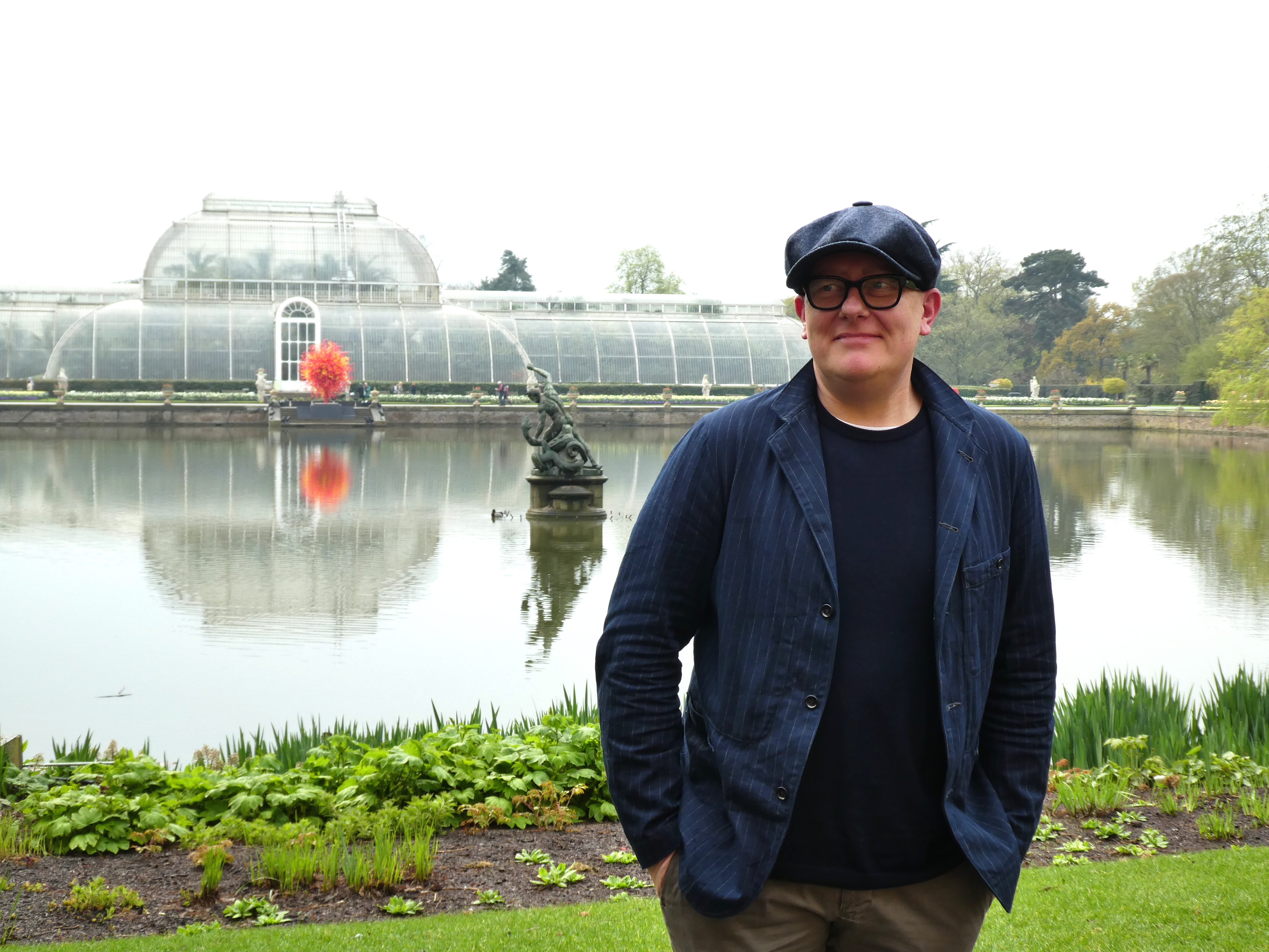 Above: Lagom's founder and creative director Kelly Hyatt in front of the Palm House at the Royal Botanic Gardens, Kew.