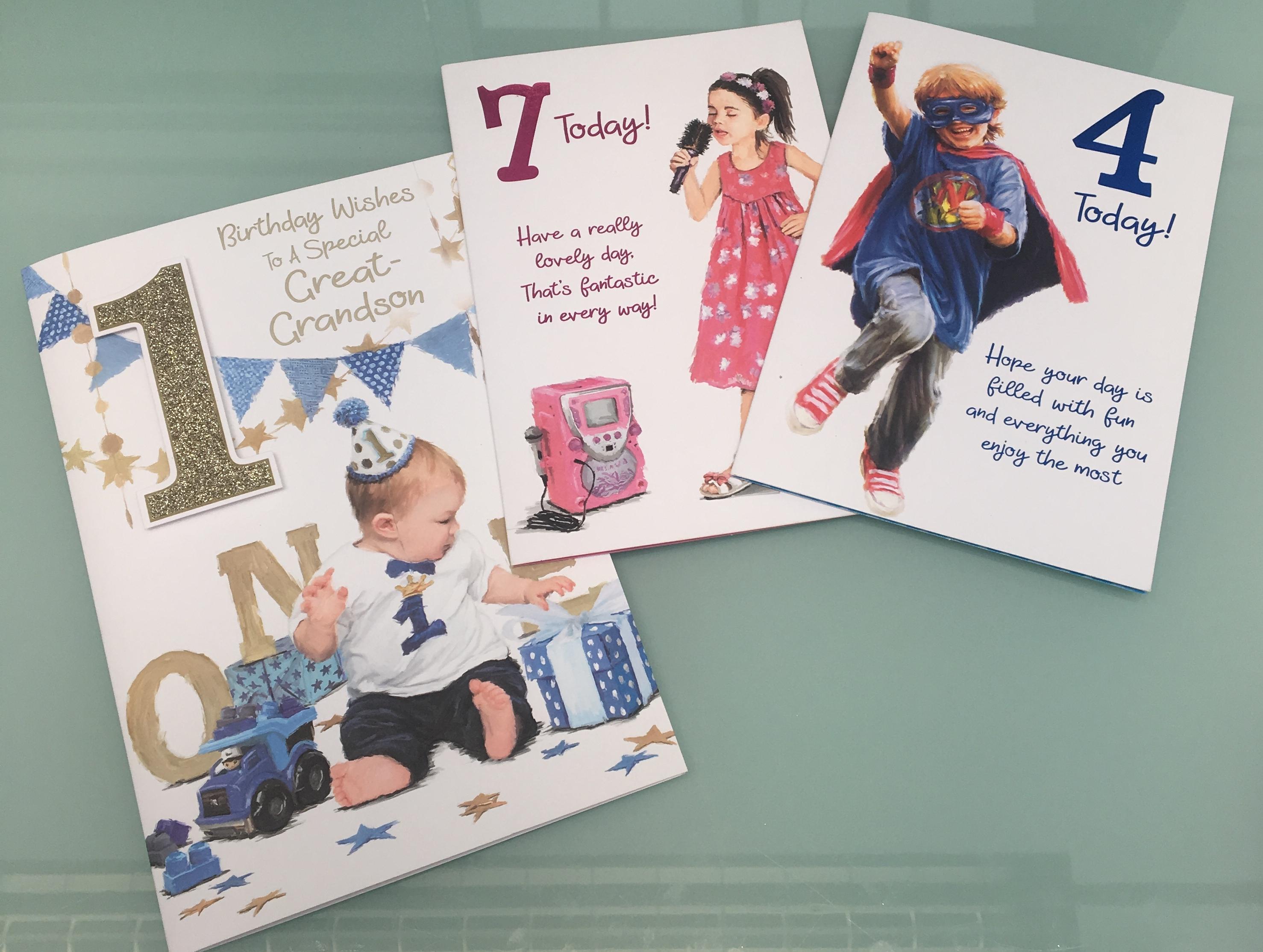 Above: A trio of the 1,300 greeting card designs BGC Studios creates.