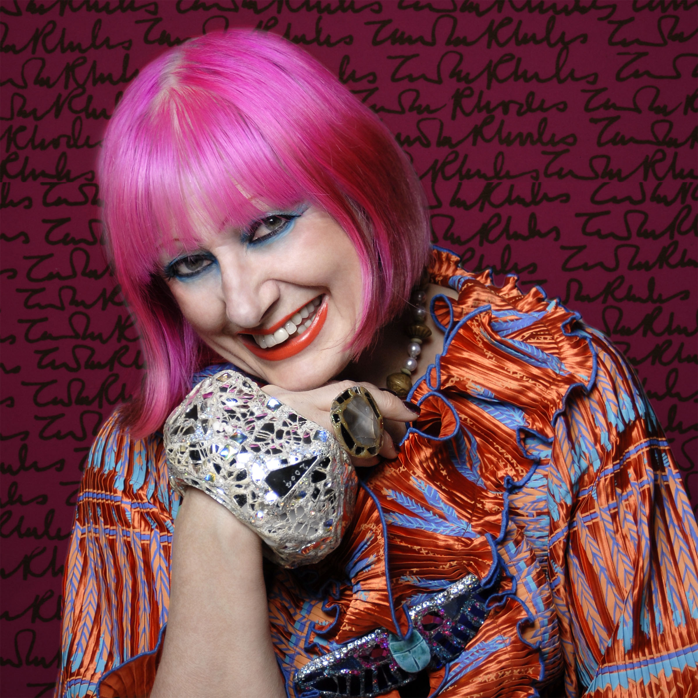 Above: Dame Zandra Rhodes' designs are gracing a dedicated licensed collection from Museums & Galleries.