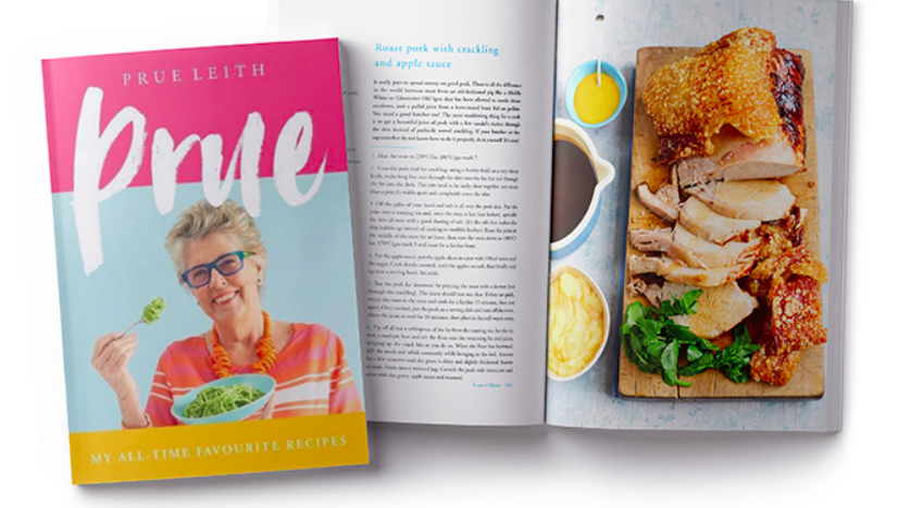 Above: The inspiration behind the licensing development was the publication of the Prue cookery book, a signed copy of which will be given away in the prize draw on the stand.