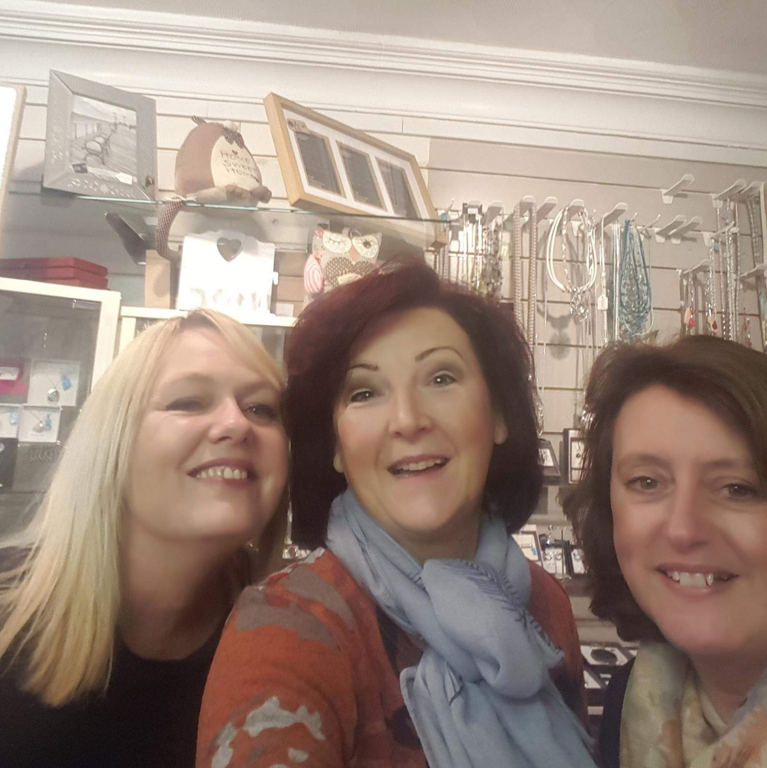 Above:Cloudnine's owner Alison Ireland (centre) with shop managers Melanie Edwards (right) and Suzie Dodd.