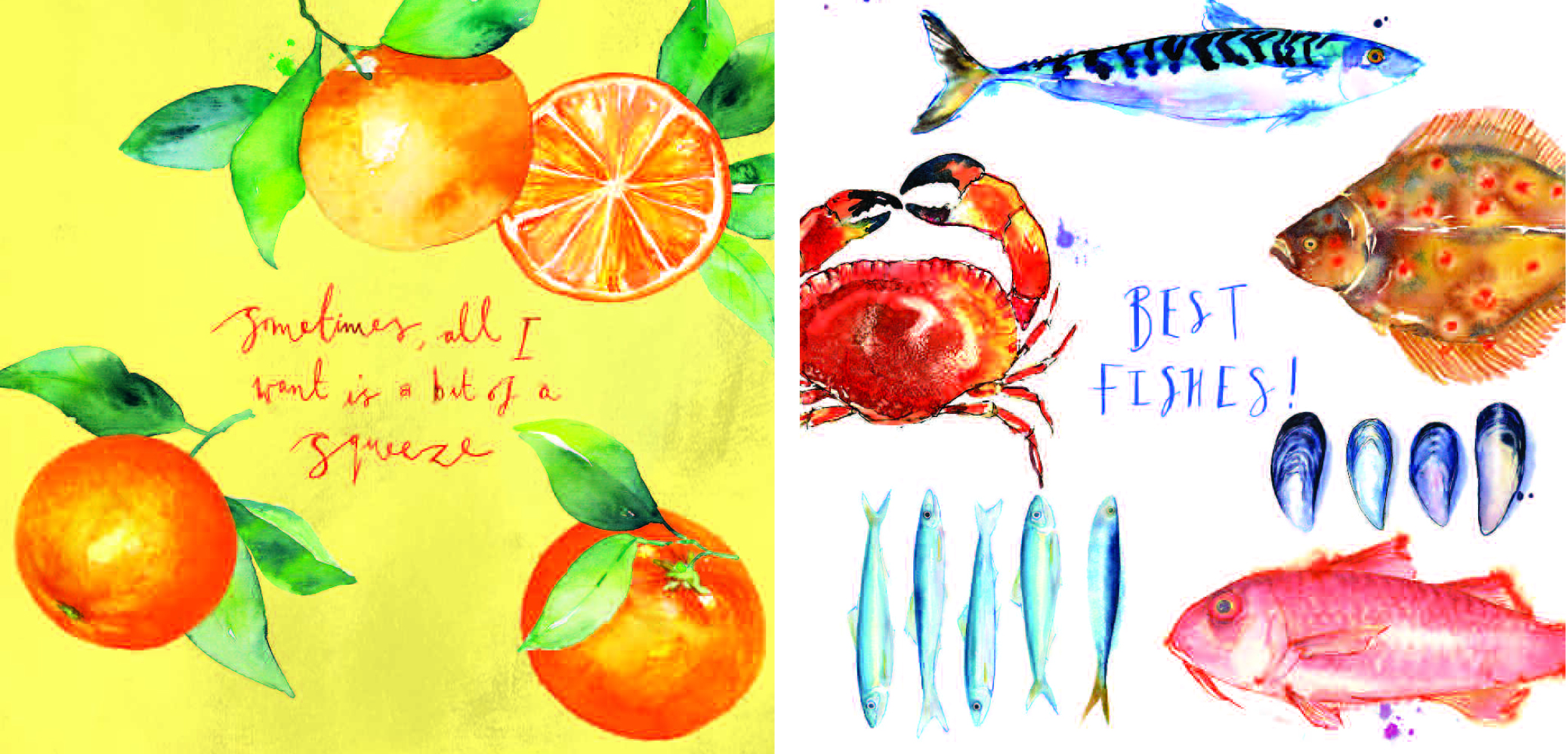 Above:The watercolour art by David Hawson forms the basis of the card designs.