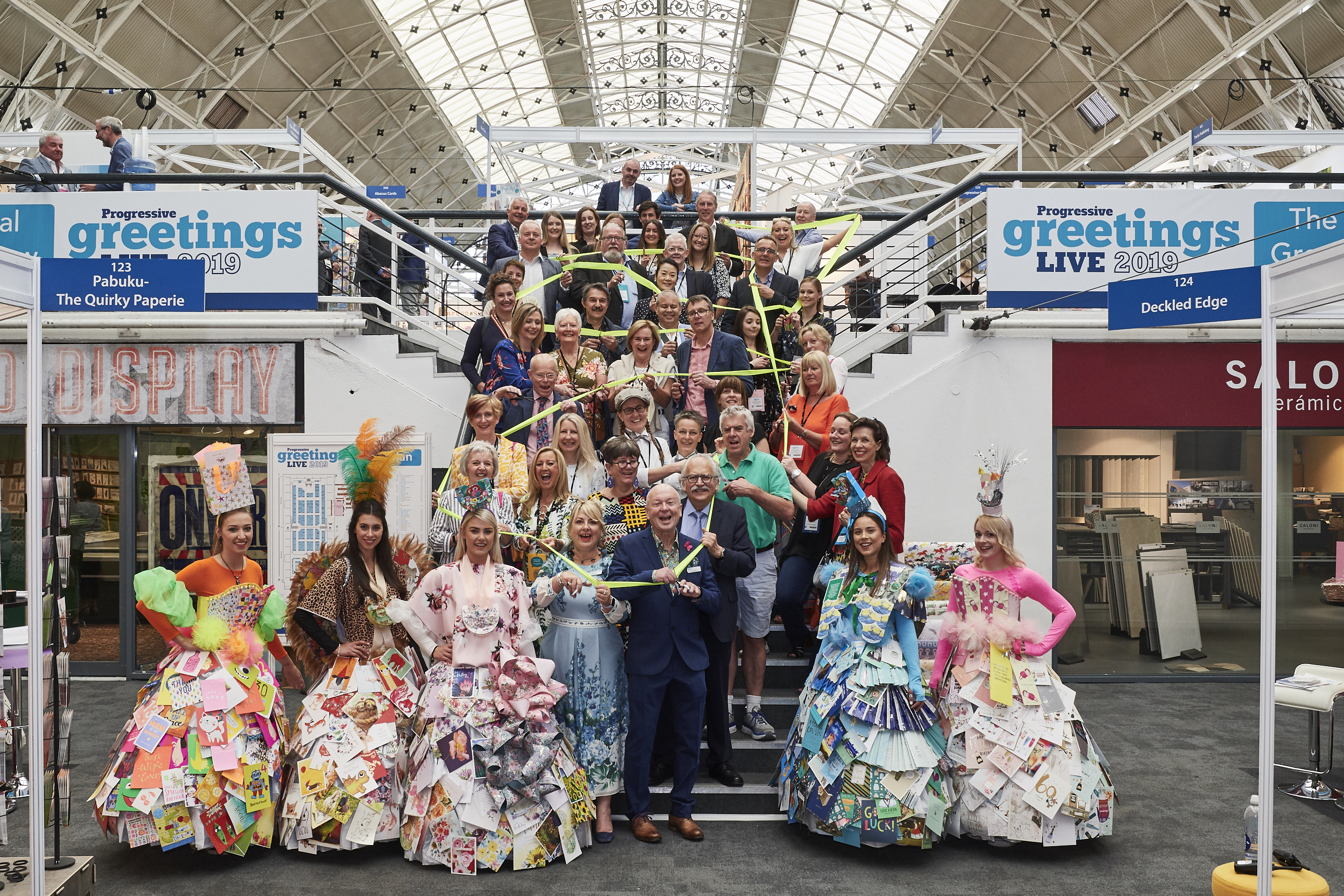 Above: Retailers and overseas distributors were invited to officially open the show.