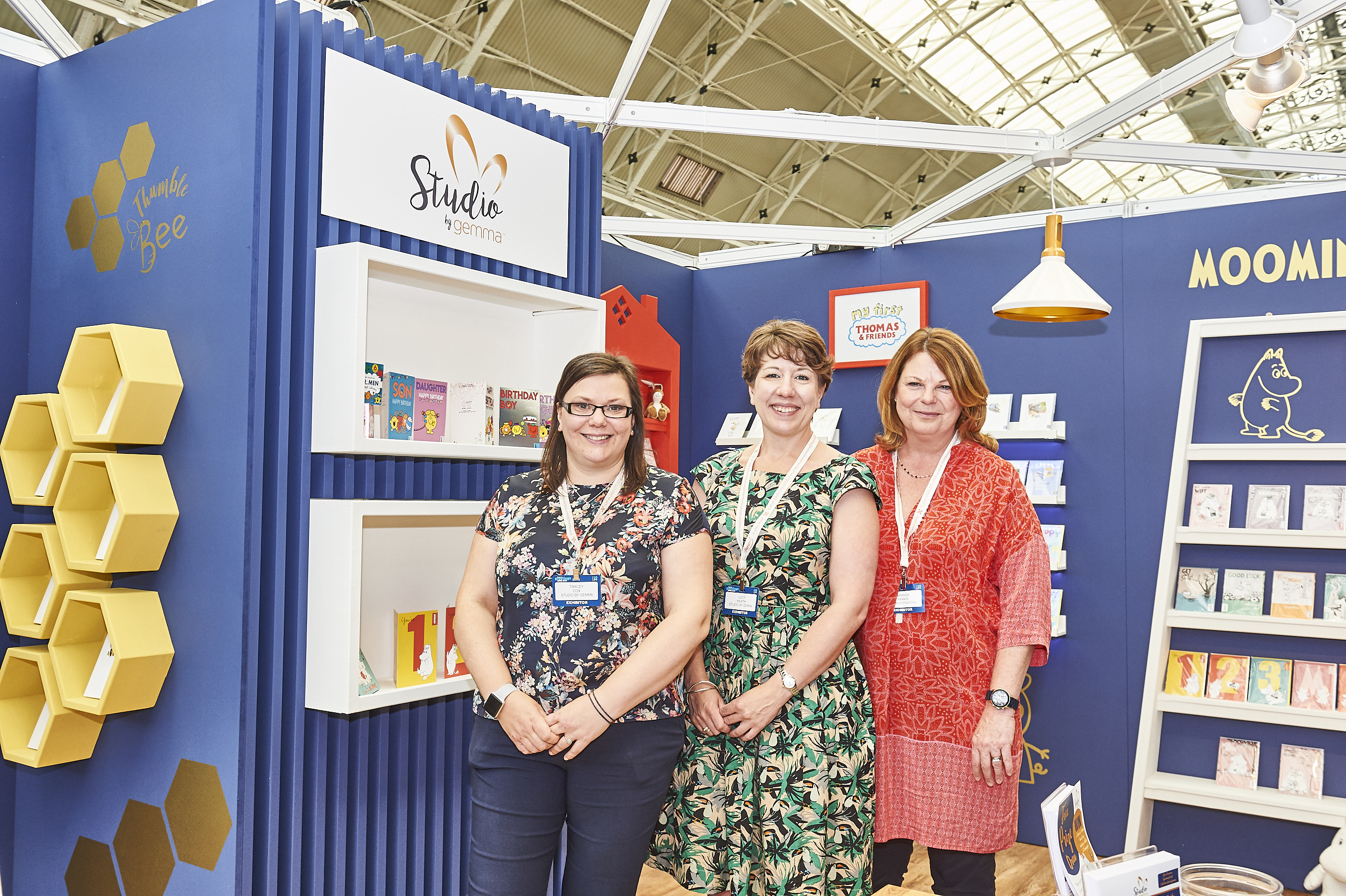 Above: Gemma's managing director Amanda Parkin (right) on the company's Studio by Gemma stand at last year's PG Live.