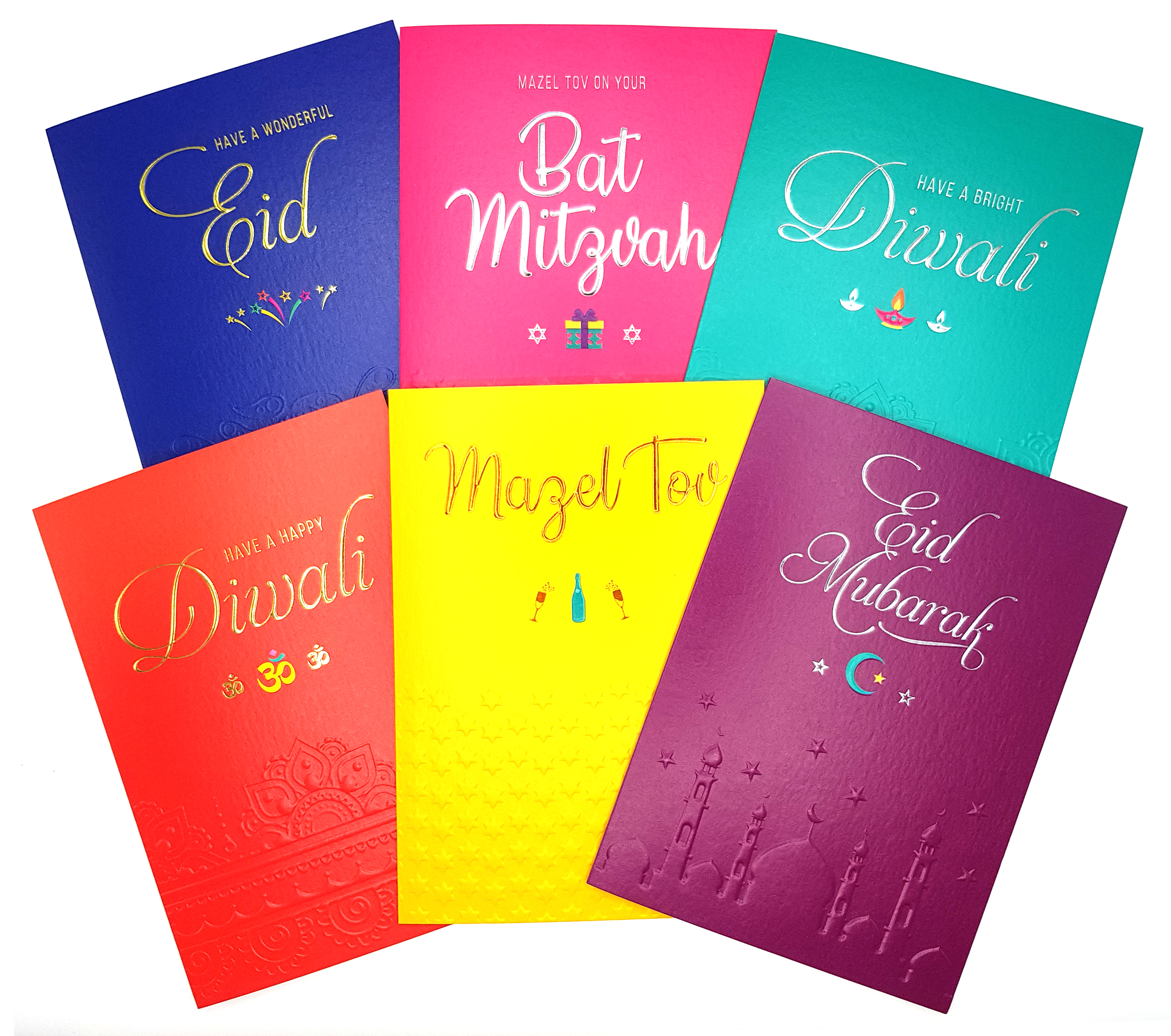 Above: Davora was offering a wide selection of contemporary multi-cultural cards.