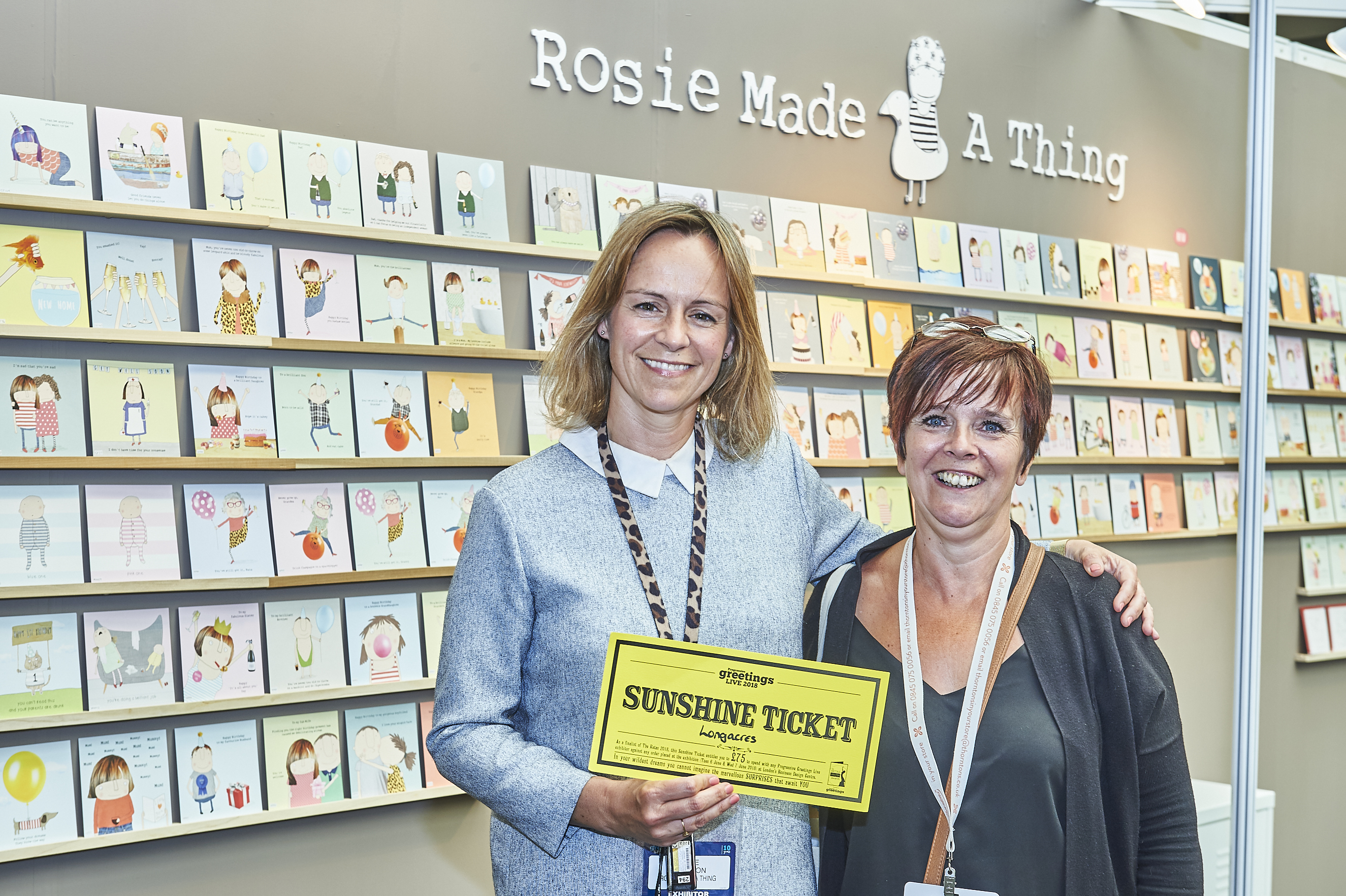 Above: (right) Kim Lewis, buyer of Longacres spending her Sunshine Ticket with Rosie Harrison of Rosie Made A Thing at last year's PG Live.