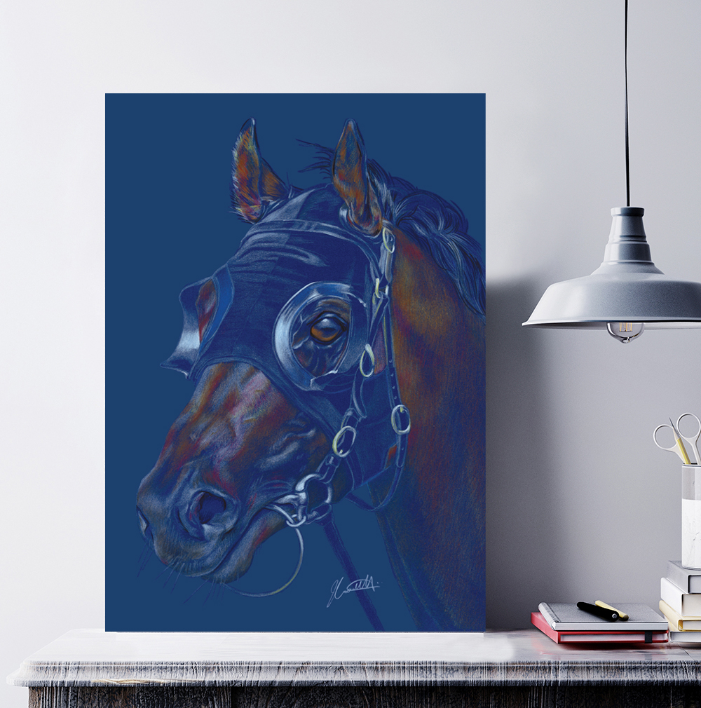 Above: The beautiful Race Horse canvas that Deckled Edge is giving away to one lucky retailer.