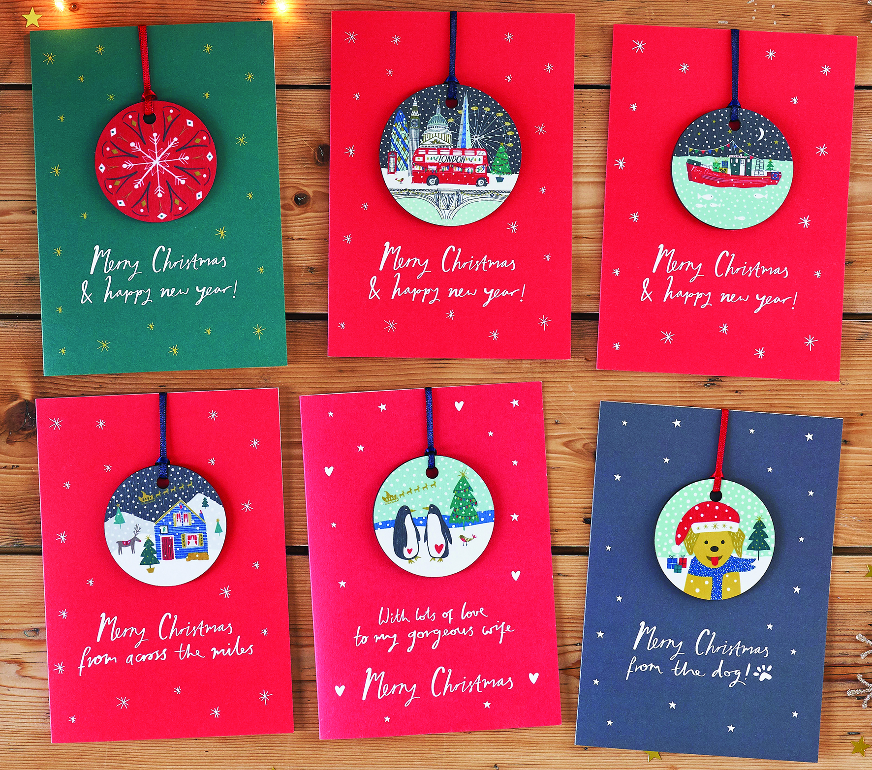 Above: Some of the Jessica Hogarth Christmas Baubles cards.