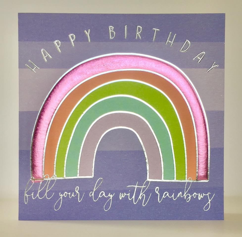 Above: Rainbow magic on a Wendy Jones-Blackett design.