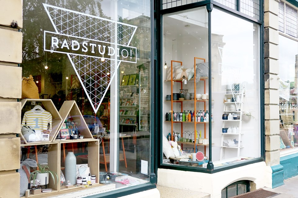 Above: Radstudio is a beacon store in Saltaire.