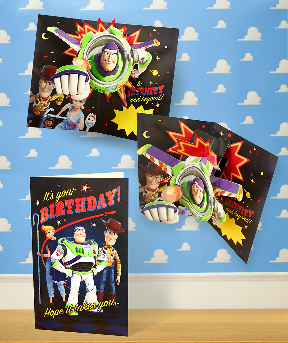 Above: One of the 3D cards from UKG's Toy Story 4 collection.