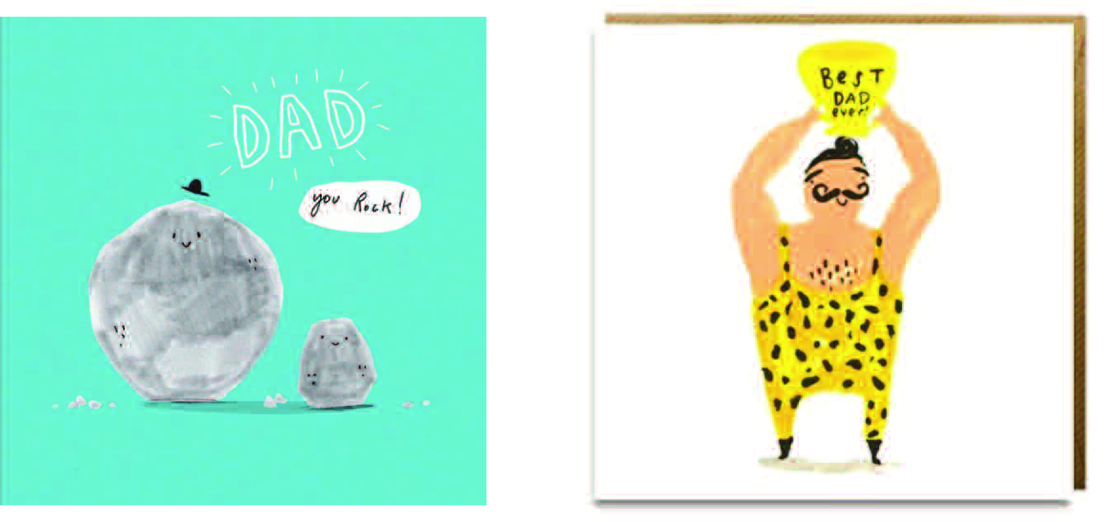 Above: Ohh Deer (left) and Sooshichacha's Father's Day designs sold really well for Postmark.