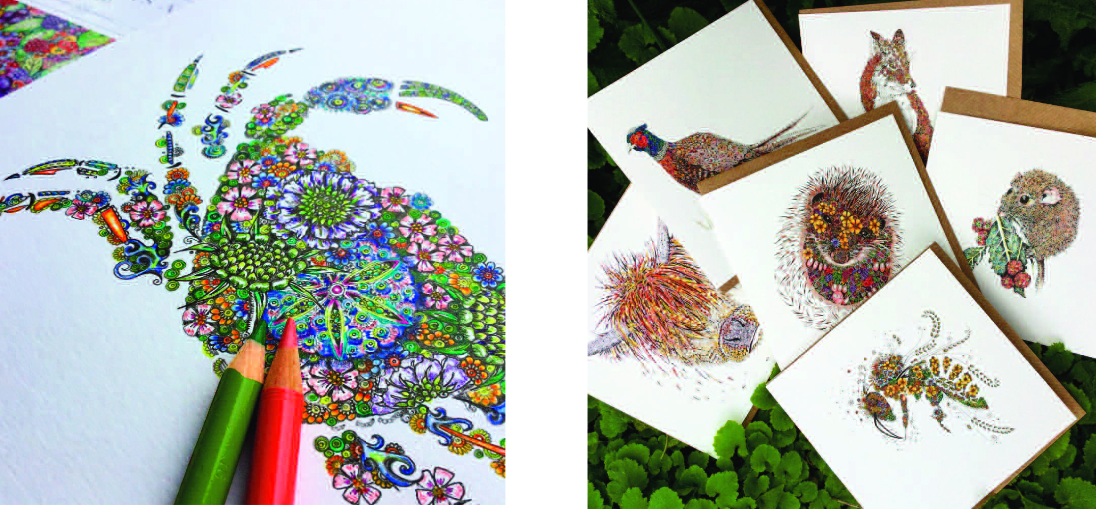Above: The incredibly detailed artwork from Doodleicious Art caught Miles Robinson's eye.