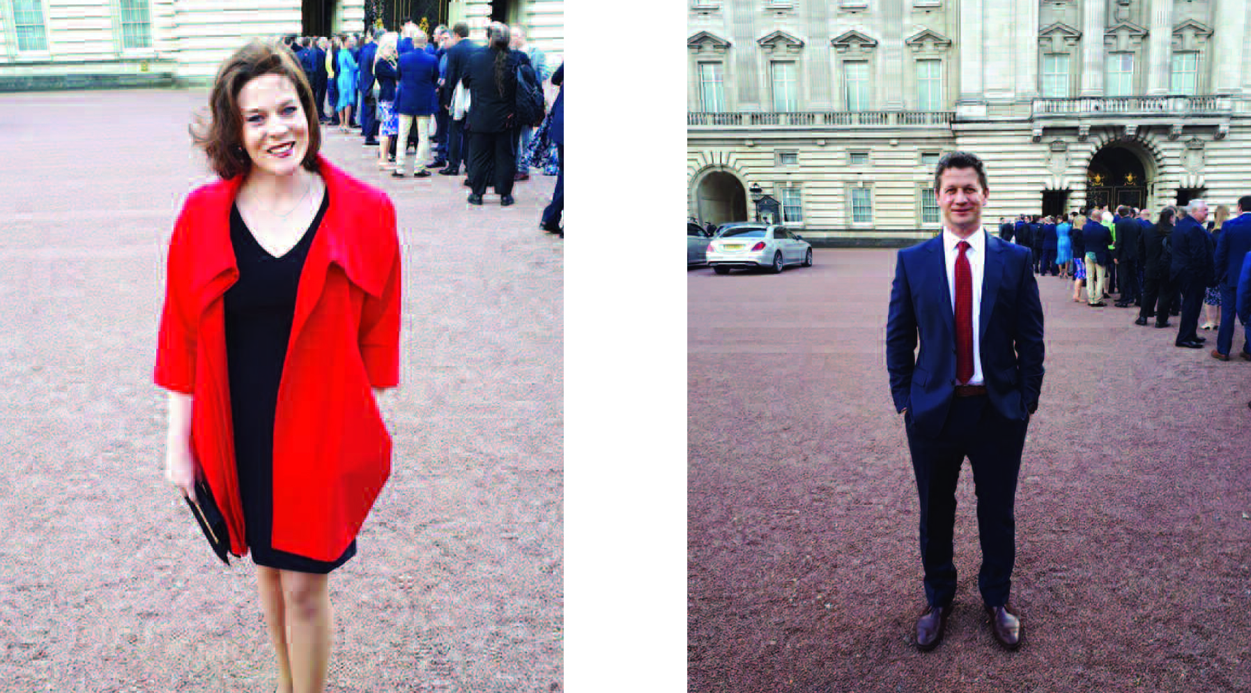 Above: Wrendale's Hannah and Jack Dale were thrilled to be invited to the reception at Buckingham Palace for this year's Queen's Award recipients.