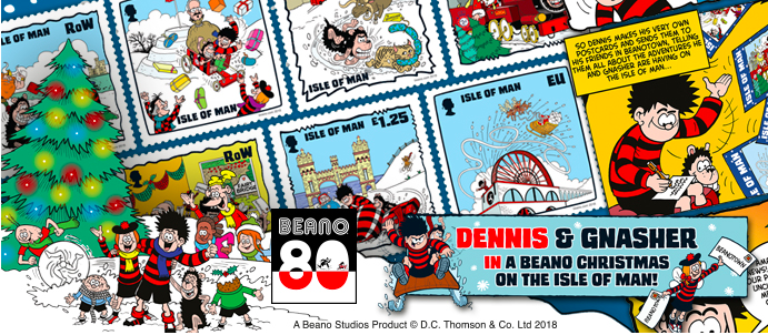Above: Last year's IoM Christmas stamps were Beano themed.