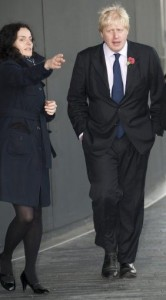 Above: Leona Janson-Smith with Boris when they worked together at City Hall when he was Mayor of London.