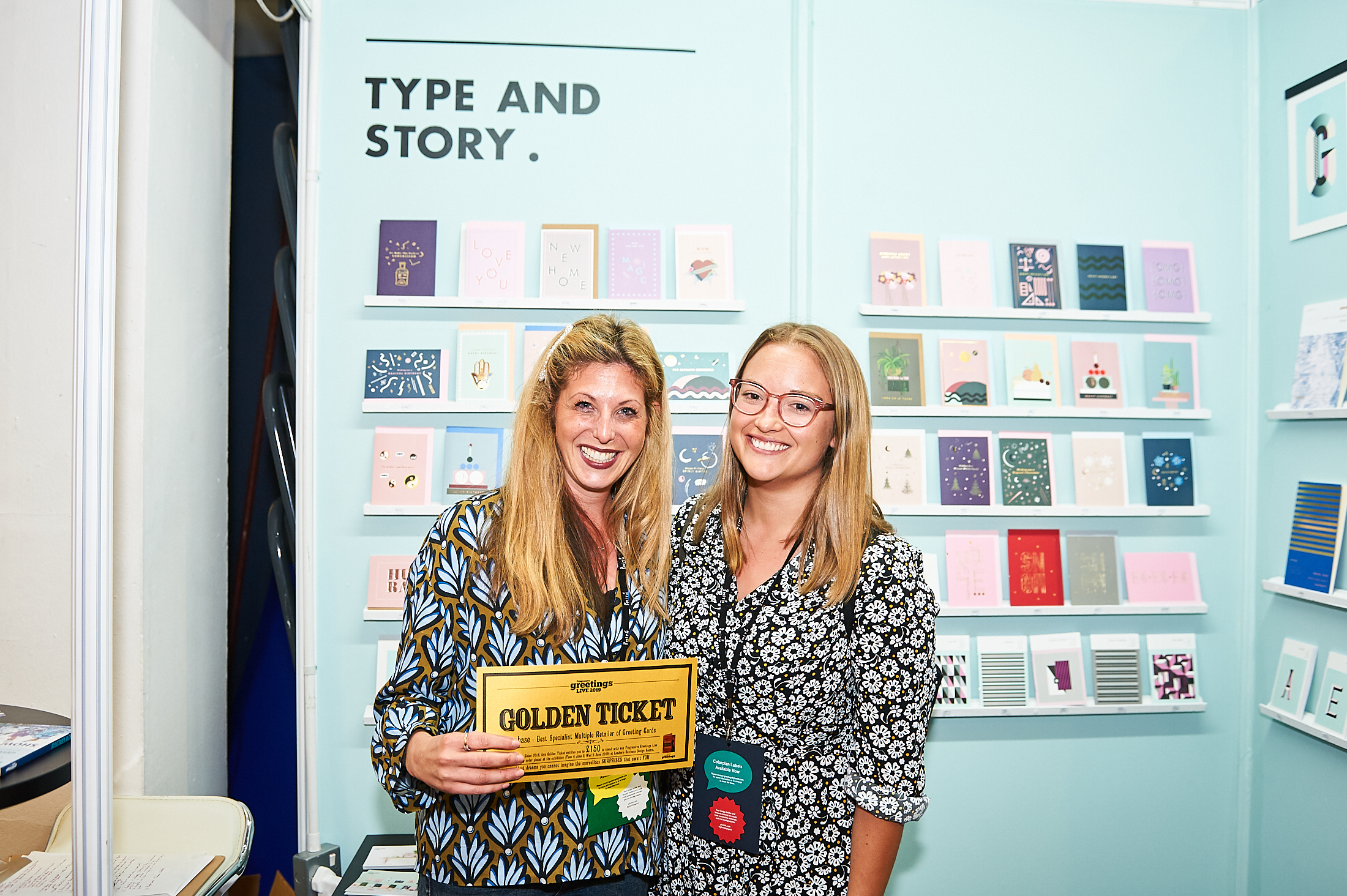 Above: Paperchase's Natalie Alexander, senior card buyer for Paperchase (right) with Type and Story's Niccy Iseman at PG LIve.