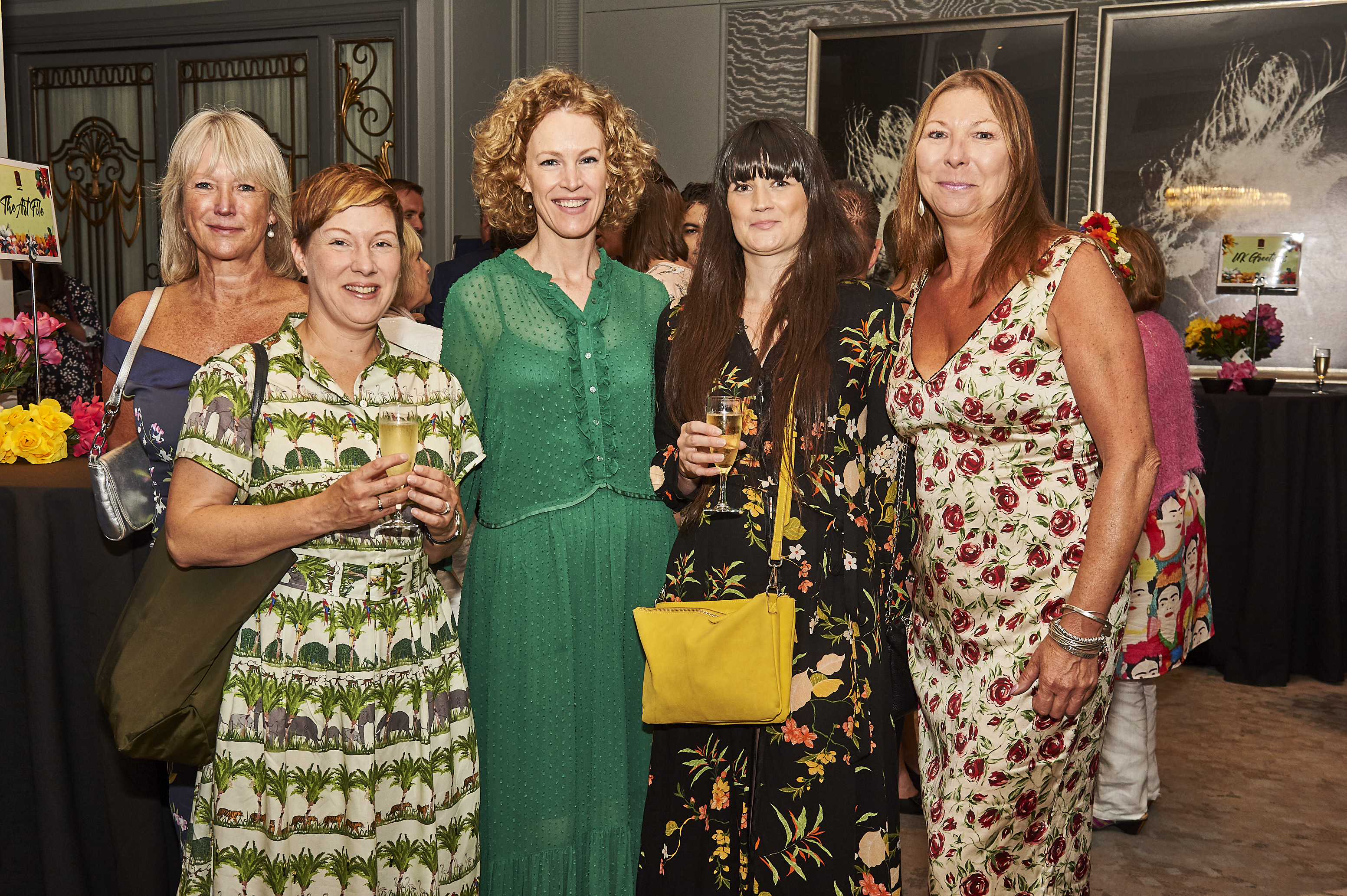 Above: (left-right) Joanna McFarlane (agent), Hazel Small (RHS Wisley), Katharine MacLaverty, Siobhan Watkins (Oliver Bonas) and Jo Bannister (agent).