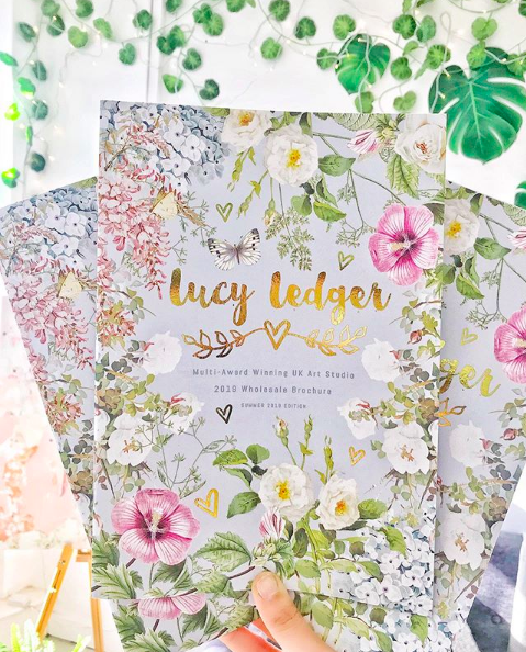 Above: Lucy Ledger's catalogue is as cared for as the publisher's beautiful ranges.